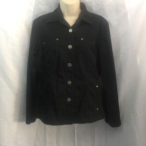 Chico's Black Long Sleeve Button Up Shirt